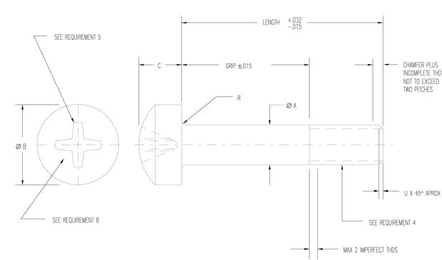 Ms27039 Mil Spec Hardware Specification Supplier Mil